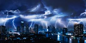 The data captured from lightning strikes around the world may help to secure the U.S. electrical grid from cyber attacks. Credit: Vasin Lee/Shutterstock