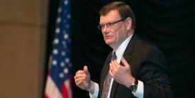 Defense Department CIO Terry Halvorsen addresses mobility concerns at the enterprise level. Photo by Michael Carpenter
