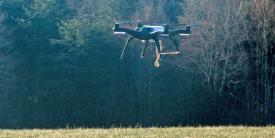 A commercial drone serves as a proof-of-concept vehicle as the U.S. Marine Corps works toward autonomous supply delivery via unmanned aerial vehicles. Once further developed, the same technology could provide relief to a civilian populace devastated by a natural disaster.