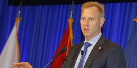 Deputy Secretary of Defense Patrick Shanahan explains key elements of the new U.S. National Defense Strategy at West 2018.
