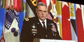Gen. Mark A. Milley, USA, chief of staff of the Army, speaks at CyConUS 2017.