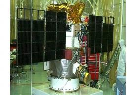 The tri-agency managed Deep Space Climate Observatory (DSCOVR) satellite in the cleanroom for inspection. With funding from Congress in the fiscal 2014 appropriations, it is slated to launch in January.