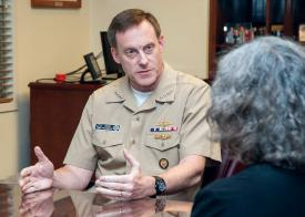 Adm. Michael Rogers, USN, NSA director and commander, U.S. Cyber Command, predicts an attempted destructive attack affecting critical infrastructure networks during his tenure as commander.