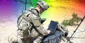 The Army Rapid Capabilities Office uses the Network Integration Evaluation exercises to gain soldier feedback on electronic warfare prototypes. The service expects to make advances this year on reintroducing sophisticated electronic warfare technologies back into the force.  Original image by Sgt. Maricris C.McLane, 24th Press Camp Headquarters. Edited by Chris D'Elia.