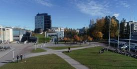 Three groups of researchers in Finland conduct outdoor experiments at Tampere University's Hervanta campus to simultaneously jam a radio-controlled improvised explosive device while receiving tactical communication signals on the same frequency band.  Tampere University