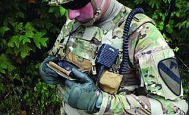 Program Executive Office Soldier has included a Samsung Galaxy Note 2 smartphone as the chest-mounted end-user device that serves as the centerpiece of Nett Warrior.