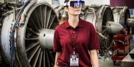 """Employing so-called computerized vision, DAQRI Smart Glasses not only """"see"""" an environment and provide data to a user but also pull in information. Photo credit: DAQRI"""