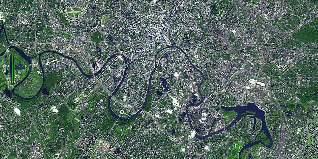 NASA's Terra spacecraft provides an image of Moscow. IARPA has launched a program intended to significantly reduce the amount of time it takes to build 3-D models of satellite imagery. Credit: NASA/GSFC/METI/ERSDAC/JAROS, and U.S./Japan ASTER Science Team