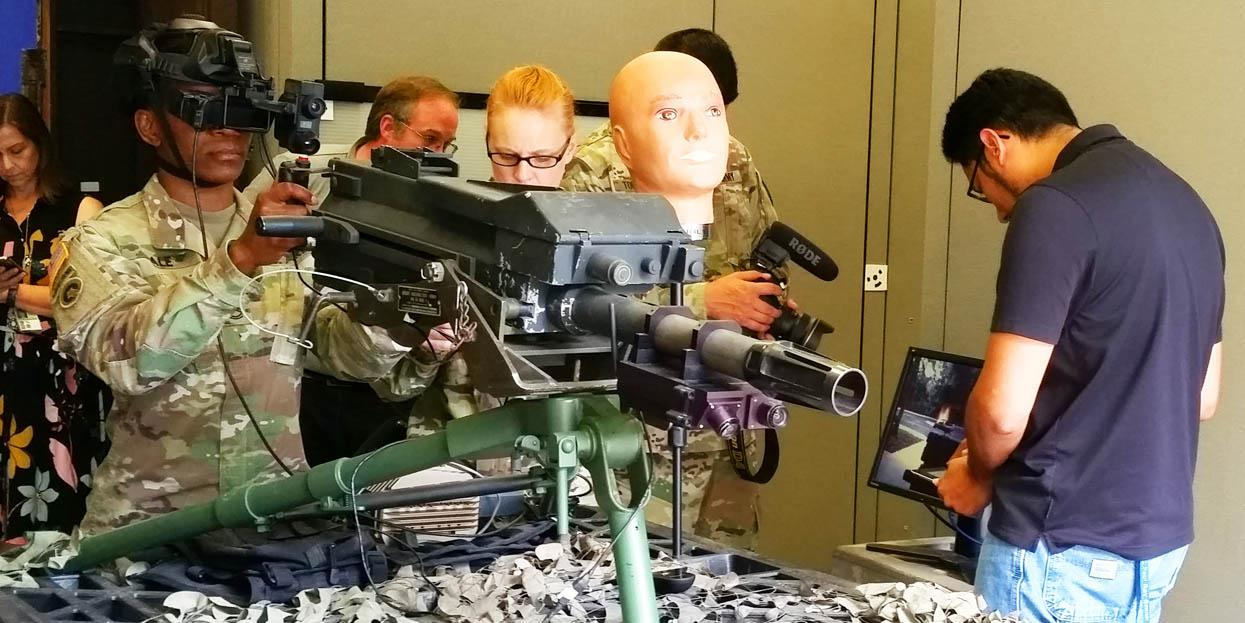 Researchers at the Army Research Laboratory in Orlando are creating a virtual grenade launcher training platform that will allow for repeated virtual rounds before going out to the real firing range.