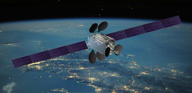An Intelsat EpicNG satellite. Rendering courtesy of Boeing