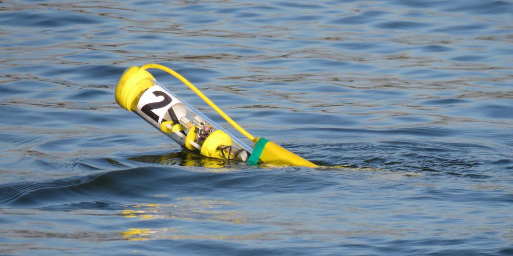 The Navy's Naval Undersea Warfare Center in Newport, Rhode Island is considering the capabilities of micro aquatic robots, such as this unmanned surface vehicle called SwarmDiver from Aquabotix. Photo credit: Aquabotix