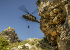 U.S. soldiers conduct live hoist rescue training with Kosovo forces in Prizren, Kosovo, April 24, 2017. The NATO Communications and Information Agency has helped develop and deploy HeliOps, a mobile app designed specifically for helicopter pilots in Kosovo.  Army photo by Spc. Adeline Witherspoon