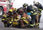 Firefighters respond during a large-scale chemical, biological, radiological and nuclear training exercise in the Pentagon's south parking lot. Future iterations of the quantum encryption technology that Lawrence Livermore National Laboratories and Allied Minds are developing and commercializing will be available on handheld devices for use by commercial and government users, including emergency responder personnel.