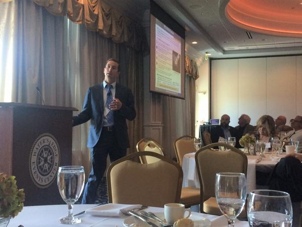 Mark Kitz, deputy program executive officer, Intelligence, Electronic Warfare and Sensors (IEW&S), discusses IEW&S priorities at the September luncheon.