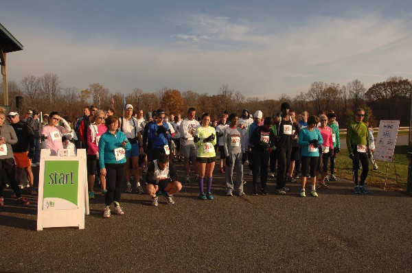 Participants gather at the starting line of the chapter�s 5K Run & 1 Mile Walk in November, which raised funds for science, technology, engineering and mathematics programs.