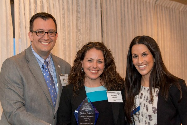 ABERDEEN�In May, Chapter Advocate Award recipient Christa Dahlem (c) is joined by Past President Alyssa Ranson and Chapter President Mike Bowen.