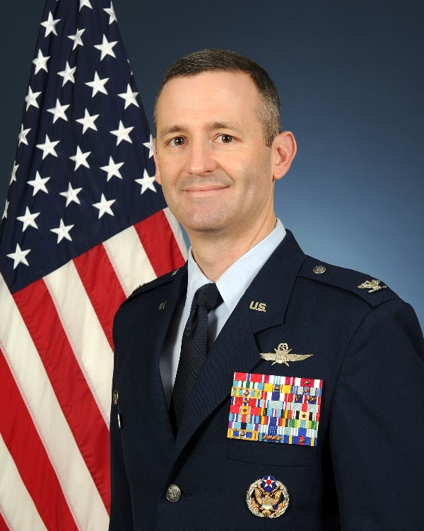 Col. Brad Pyburn, USAF, commander of the 624th Operations Center, spoke to the chapter in August.