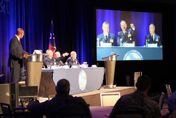 Arthur G. Hatcher, director of cyber capabilities and compliance, Office of Information Dominance and Chief Information Officer, Office of the Secretary of the Air Force, serves as panel moderator for the major commands panel session at the chapter's annual conference in November.
