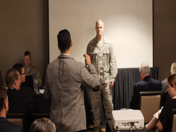 Security was front and center during the question-and-answer session with Col. Waynick at Alamo ACE in November.
