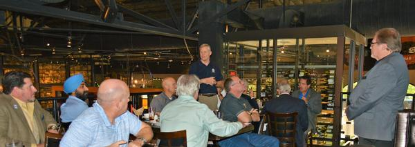 Chapter President Rick Lipsey, discusses 2019 initiatives and fosters discussion on membership during the October luncheon for corporate sponsors.