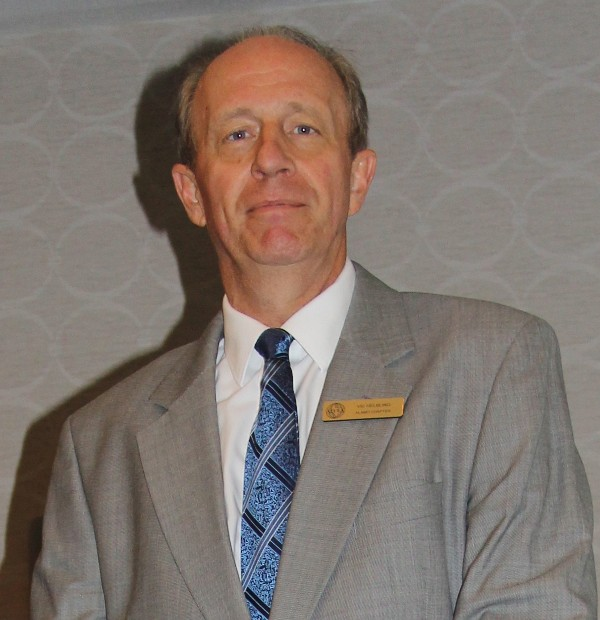 Victor Helbling, chapter vice president for scholarships and grants, receives AFCEA's Special Award of Merit in March.
