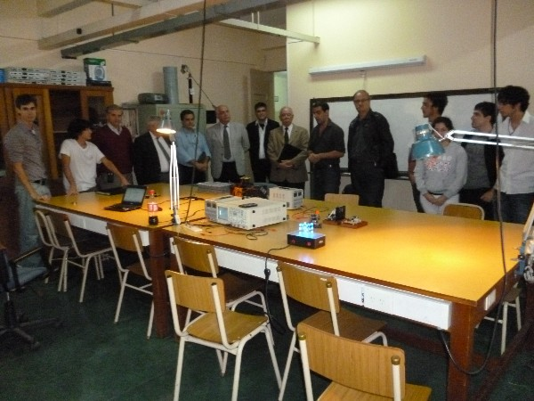 In March, board members view a demonstration of the Army University robotics lab with students from the subchapter.