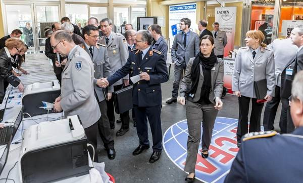 The opening day of the annual Bonn Tech Expo draws a crowd.