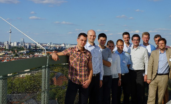 In August, Young AFCEANs take in a view of Berlin at Tempelhof Airport, high above historical ground.
