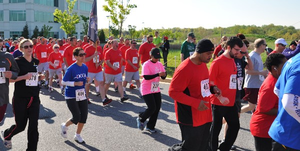 Runners hit the pavement in April to raise money in support of the chapter�s scholarship fund.
