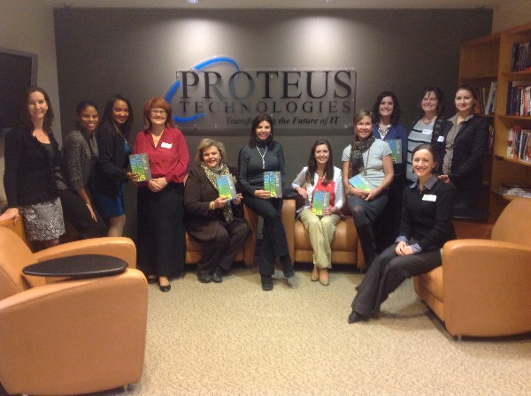 Ladies from the chapter�s WIIG Book Club gather at host company Proteus Engineering in January to discuss �Daring Greatly.�