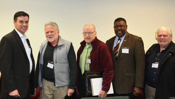 Attendees gather for the chapter�s January Technology Over Bagels event.