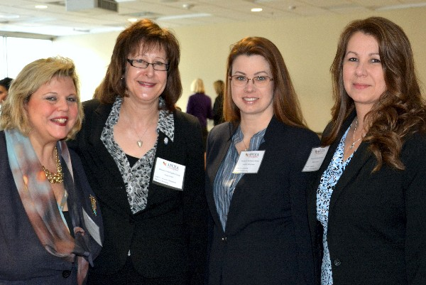 Attending the WIIG In A Minute event in March are (l-r) Colleen Dilly, Zvada Technologies; Susan Emert, AFCEA International; Jennifer Havermann, Raytheon; and Chapter President Nicole Goropse, Ledios and WIIG communication lead.