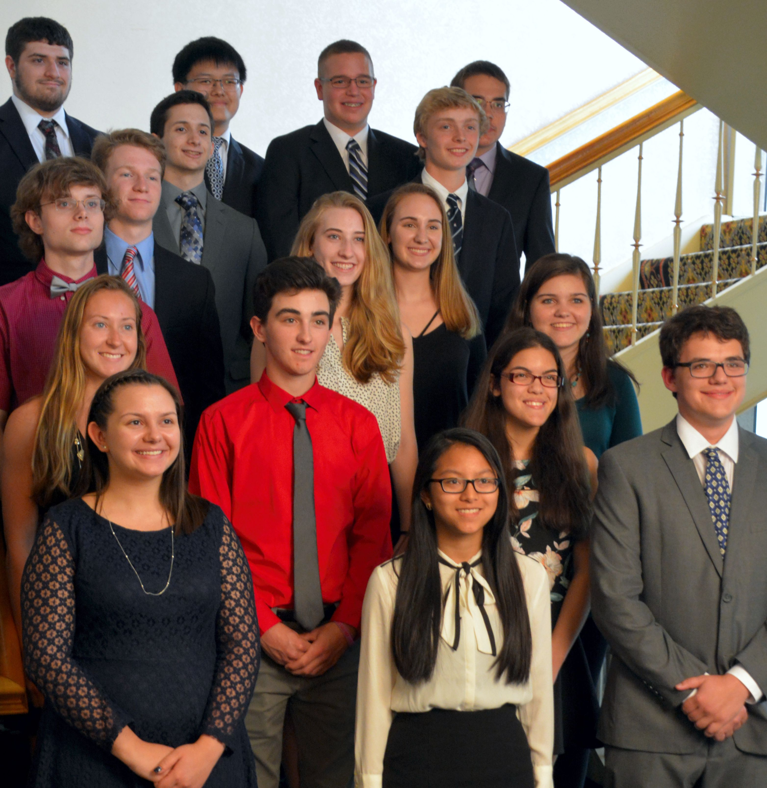 High school recipients of chapter scholarships attend the awards night in May and network with members.