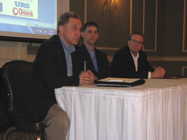 Panelists at the April luncheon are Ramaekers, Narducci and Schaben.