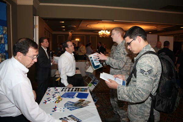 GREATER OMAHA—In May, attendees interact on the exhibit floor of the Greater Omaha Chapter Heartland TechNet.