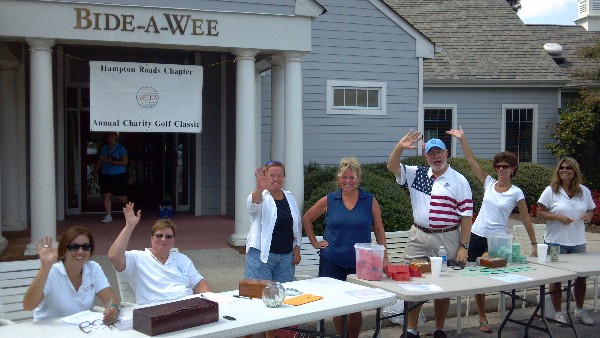 In September, volunteers gather at the chapter�s Annual Charity Golf Classic held at Bide-A-Wee Gold Course in Portsmouth.
