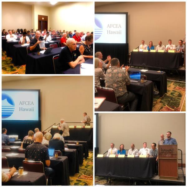 Attendees at the AFCEA Hawaii Cyber Intelligence Breakfast in October, enjoy panelists from several U.S. government agencies.
