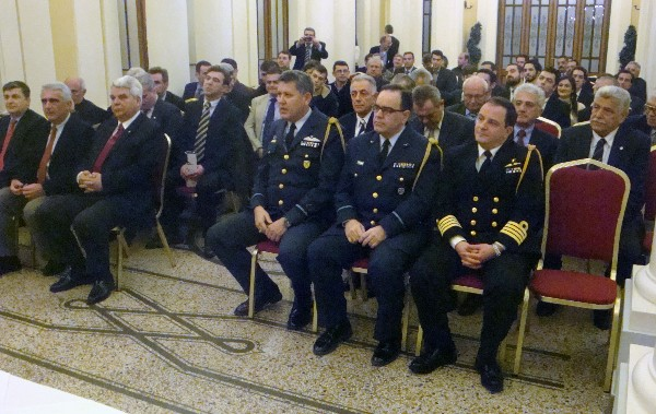 Attendees of the February event include representatives of the chiefs of staff, and members and guests of the chapter.