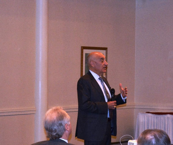 Lt. Gen. Peter M. Cuviello, USA (Ret.), speaks to the chapter in March.