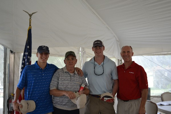 The happy winners of the chapter�s Diversity Golf Tournament in August are (l-r) Al Vazquez, Ray Beauregard, Pete Wheatly and Bud Vazquez, chapter president and team lead.