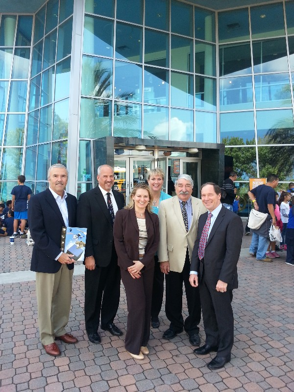 Chapter board members at the Discovery Science Center in October are (l-r) Steve Scott, Adam Feingold, Andrea Loper, Laura Pope, Don Tomajan and Spencer Bauer.