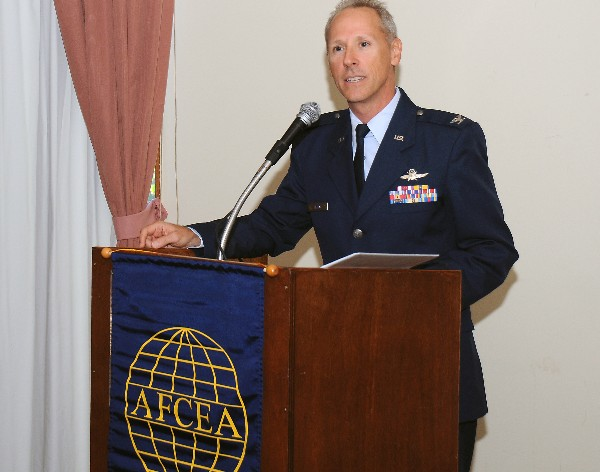 At the November luncheon, Col. Steve Staso, USAF, liaison officer director, U.S. Air Force Academy, serves as the guest speaker and scholarship presenter. Col Staso is also the chapter�s vice president of communications.