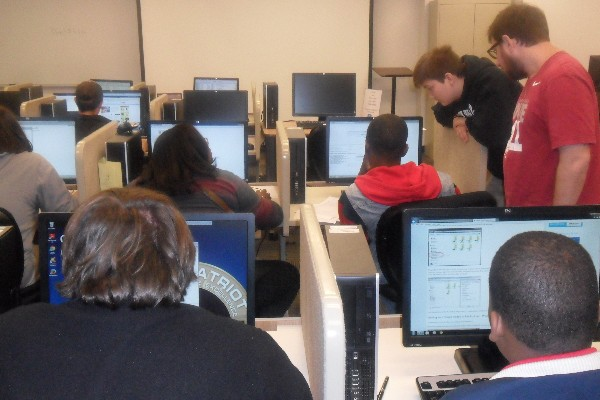 IT Academy students participate in the CyberPatriot Competition hosted at Auburn University-Montgomery in November.