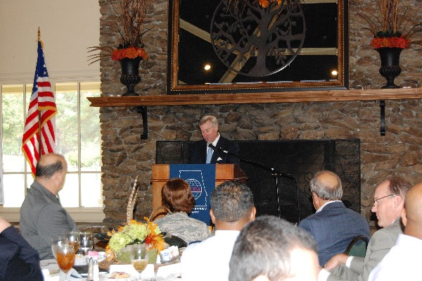 Montgomery, Alabama, Mayor Todd Strange speaks to luncheon attendees in October regarding cyber in the River Region.