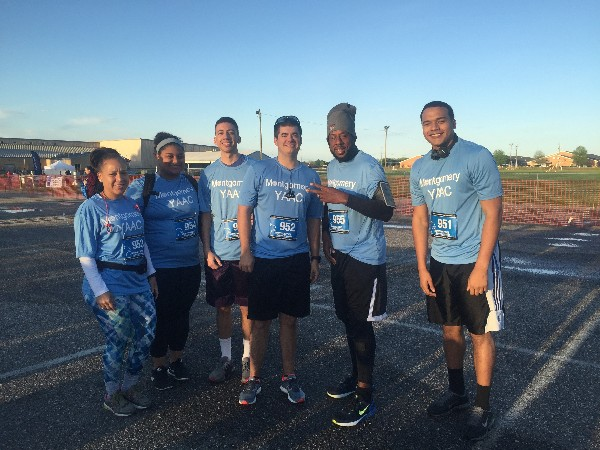 In April the Centerpoint Half Marathon and 5K team consisted of (l-r) Suzanne Carter, Raya Ward, Erik Matlack, Adam Vencill, Mark Jones and Trey Lasane.