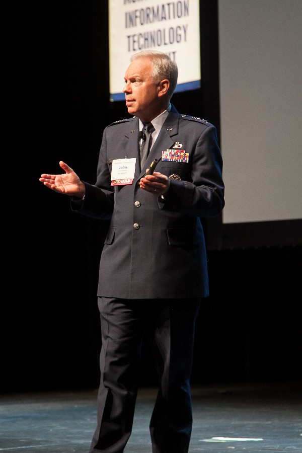 The May summit attracted high-profile speakers such as Lt. Gen. John Thompson, USAF, commander, Air Force Life Cycle Management Center.