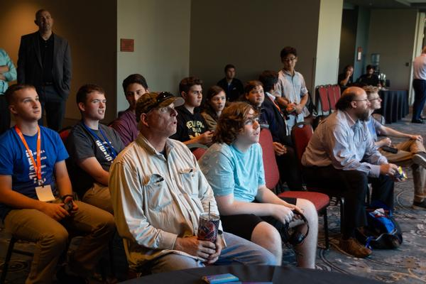 Competitors wait eagerly for their round of play at the August event.