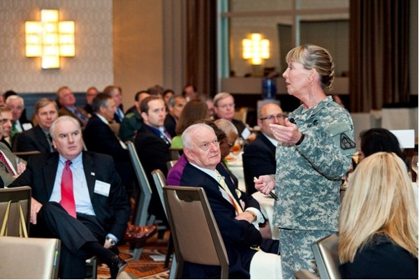 Gen. Price addresses chapter members in October.