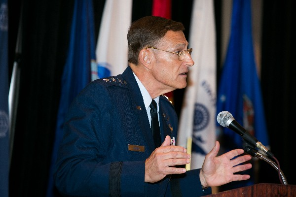 In September, Lt. Gen. Michael Basla, USAF, A-6/chief information officer, discusses cyberthreats at the 6th Annual Joint Warfighter IT Day.