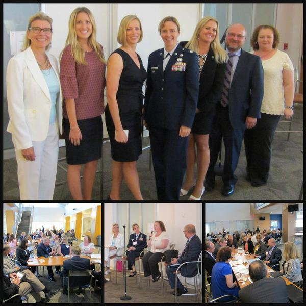 Women in NOVA attendees and distinguished speakers discussed the cloud, human resources transformation and financial accountability at the roundtable in July.